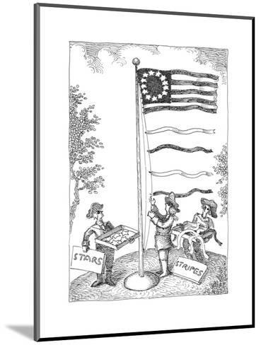 Stars and stripes - Cartoon-John O'brien-Mounted Premium Giclee Print