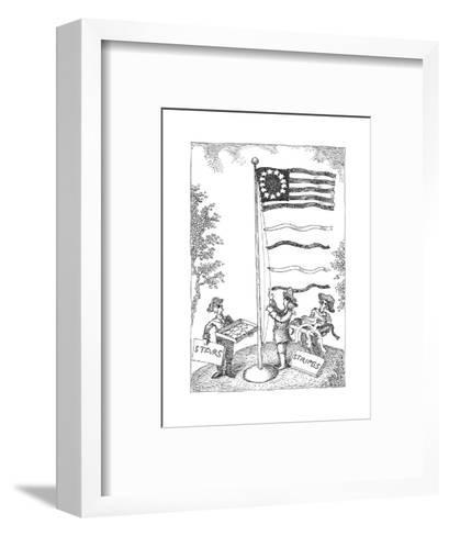 Stars and stripes - Cartoon-John O'brien-Framed Art Print