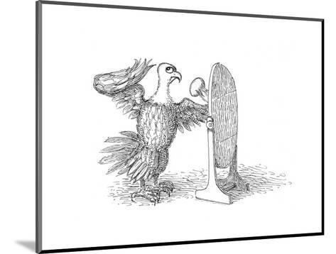 Eagle Mirror - Cartoon-John O'brien-Mounted Premium Giclee Print