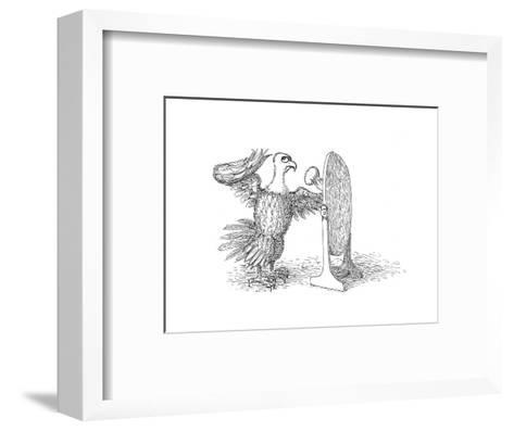 Eagle Mirror - Cartoon-John O'brien-Framed Art Print