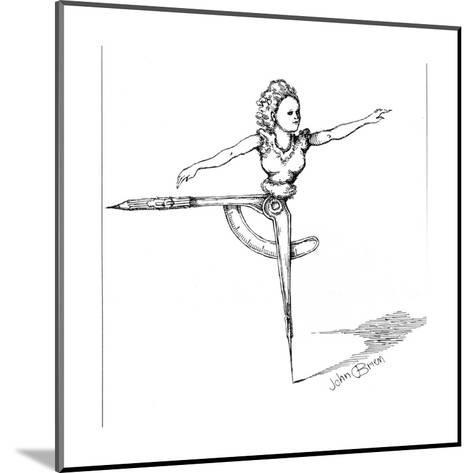 Compass dancer - Cartoon-John O'brien-Mounted Premium Giclee Print