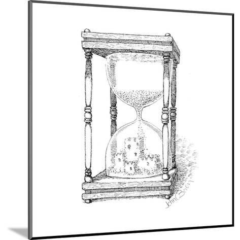 Hourglass and sandcastle - Cartoon-John O'brien-Mounted Premium Giclee Print