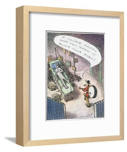 """""""If you're happy and you know it blink your eyes!"""" - Cartoon-John O'brien-Framed Art Print"""