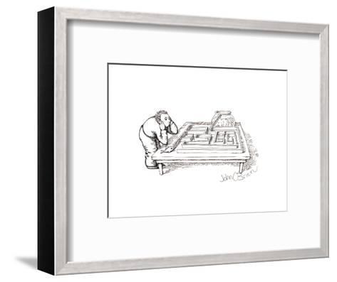Fish maze - Cartoon-John O'brien-Framed Art Print