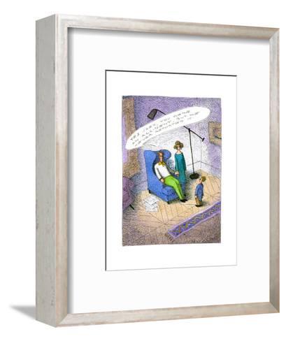 Unreported accident - Cartoon-John O'brien-Framed Art Print