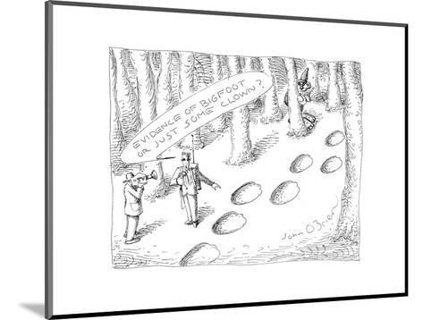 Clown prints - Cartoon-John O'brien-Mounted Premium Giclee Print