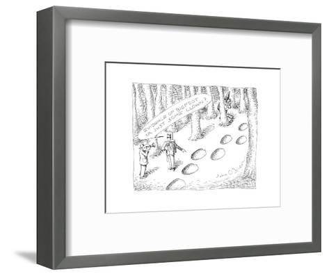 Clown prints - Cartoon-John O'brien-Framed Art Print