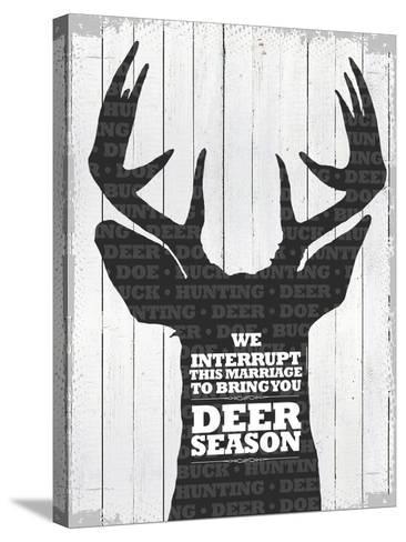 Deer Season 1--Stretched Canvas Print