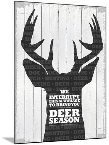 Deer Season 1--Mounted Giclee Print