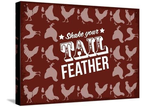 Tail Feather--Stretched Canvas Print