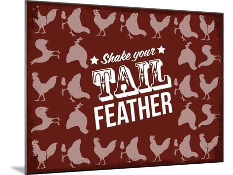 Tail Feather--Mounted Giclee Print