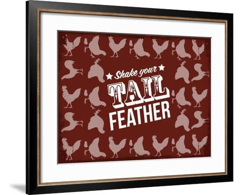 Tail Feather--Framed Art Print