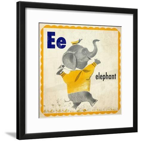 Vintage ABC- E--Framed Art Print
