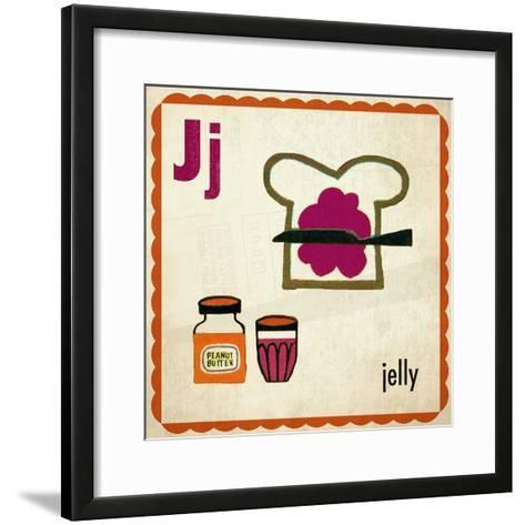 Vintage ABC- J--Framed Art Print