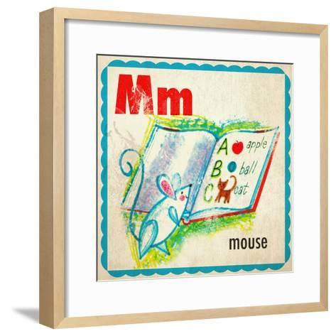 Vintage ABC- M--Framed Art Print