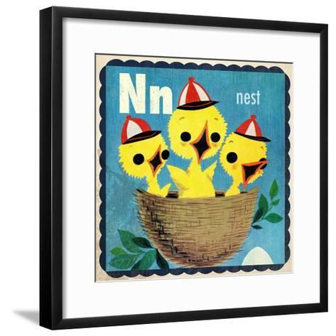 Vintage ABC- N--Framed Art Print