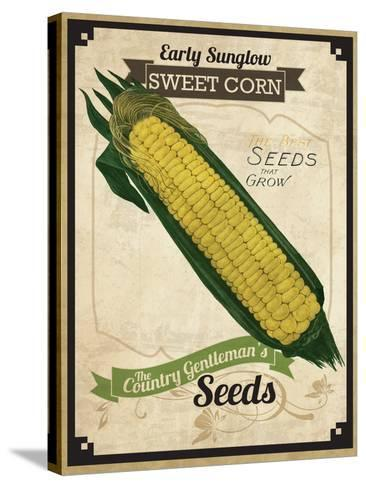 Vintage Corn Seed Packet--Stretched Canvas Print