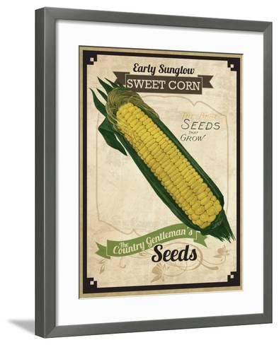 Vintage Corn Seed Packet--Framed Art Print