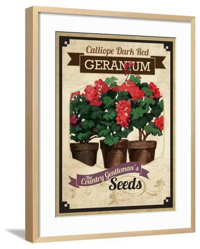 Vintage Geranium Seed Packet--Framed Art Print