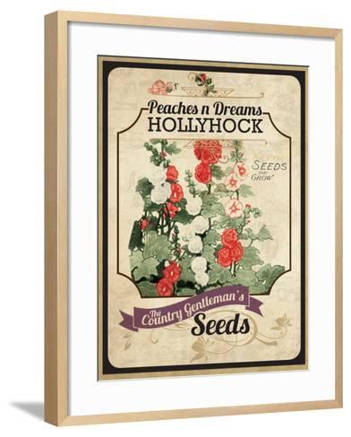 Vintage Hollyhock Seed Packet--Framed Art Print