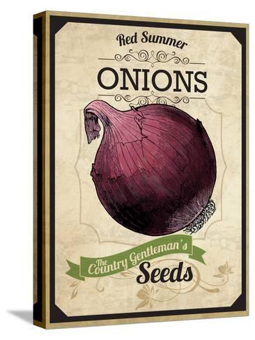 Vintage Onion Seed Packet--Stretched Canvas Print