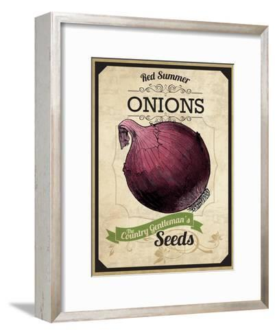 Vintage Onion Seed Packet--Framed Art Print