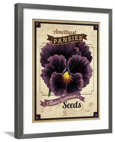 Vintage Pansies Seed Packet--Framed Art Print