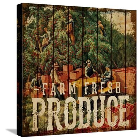 Farm Fresh Produce--Stretched Canvas Print