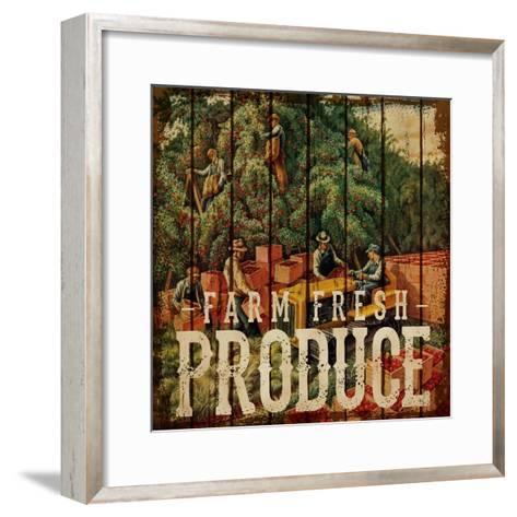 Farm Fresh Produce--Framed Art Print