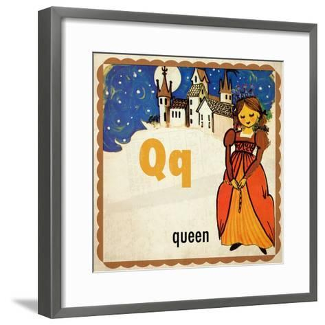 Vintage ABC-Q--Framed Art Print