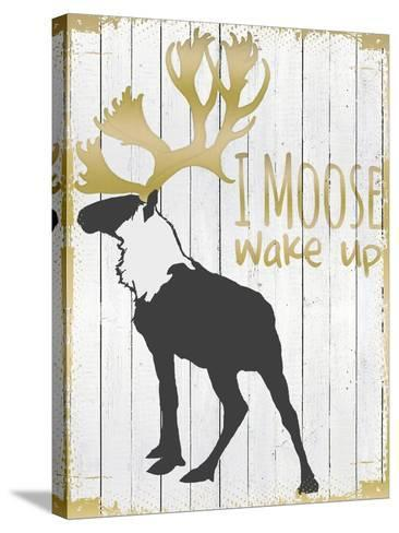 Wake Up Moose--Stretched Canvas Print
