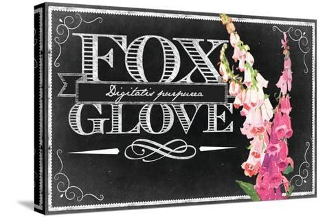 Pink Fox Gloves--Stretched Canvas Print