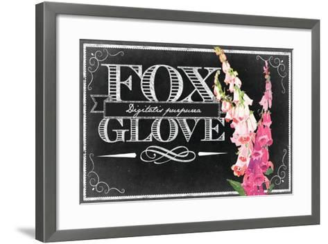 Pink Fox Gloves--Framed Art Print