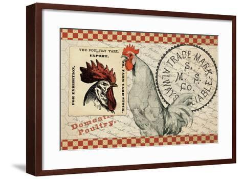 Checkered Chicken 5--Framed Art Print