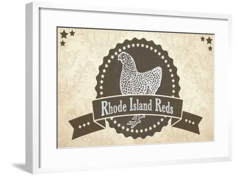 Rhode Island Reds 1--Framed Art Print