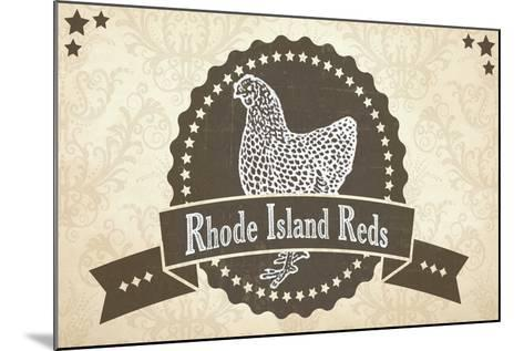 Rhode Island Reds 1--Mounted Giclee Print