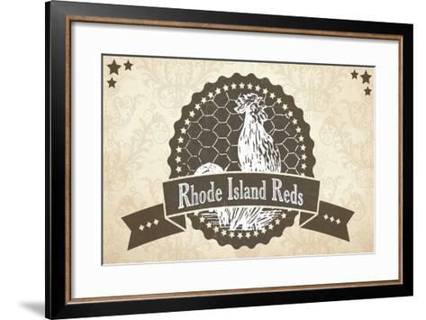 Rhode Island Reds 5--Framed Art Print