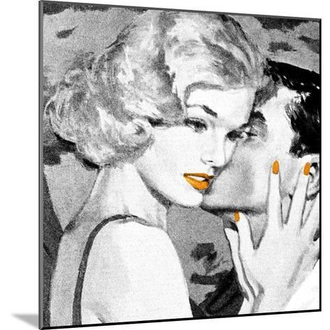 Lips 4--Mounted Giclee Print