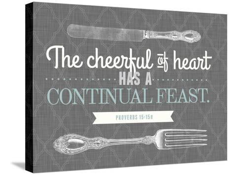 Cheerful of Heart--Stretched Canvas Print