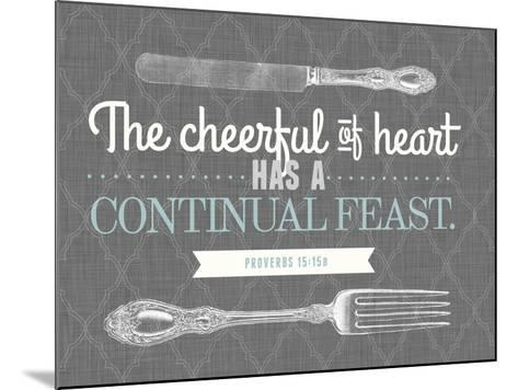Cheerful of Heart--Mounted Giclee Print