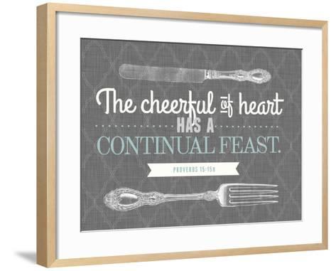 Cheerful of Heart--Framed Art Print