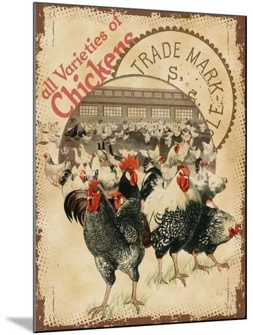 Chicken Varieties--Mounted Giclee Print