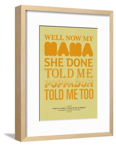 Poppadom Told Me-Peter Reynolds-Framed Art Print