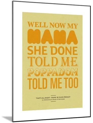 Poppadom Told Me-Peter Reynolds-Mounted Giclee Print