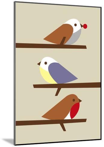 3 Birds-Dicky Bird-Mounted Giclee Print