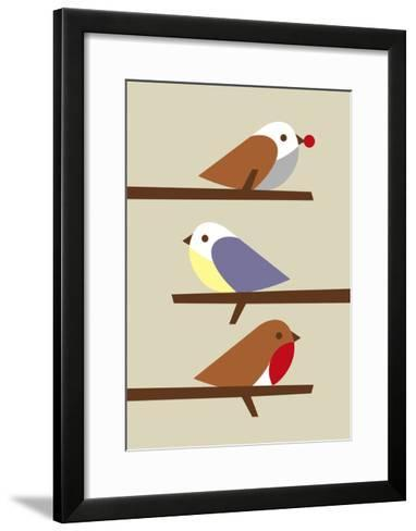 3 Birds-Dicky Bird-Framed Art Print