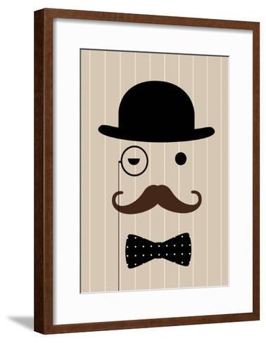 Gentleman-Dicky Bird-Framed Art Print