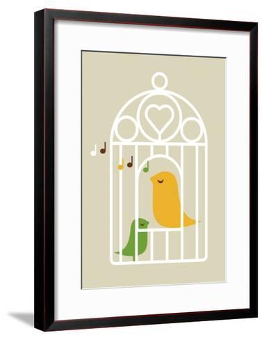 Singing Birds 2-Dicky Bird-Framed Art Print