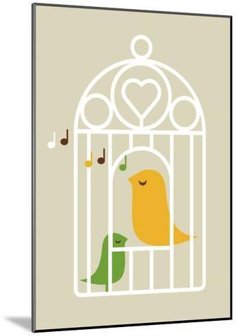 Singing Birds 2-Dicky Bird-Mounted Giclee Print
