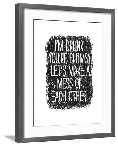 Drunk-Nicole Thompson-Framed Art Print